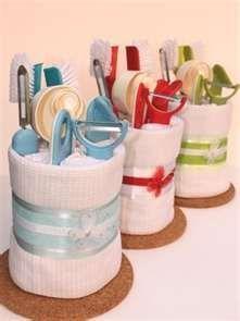Basket Gifts Kitchen Towel Cake Great For Housewarming Or Bridal