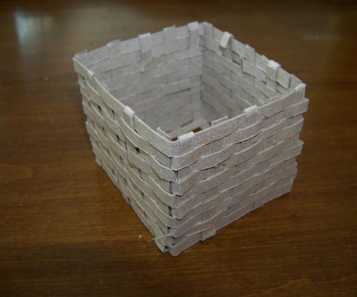 Cardboard Square Basket