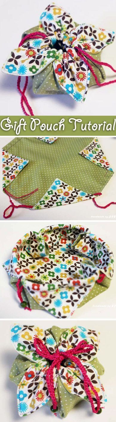 Little diy fabric gift pouch is an awesome way to give special gifts – it is t...