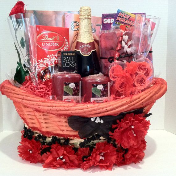Love is in this Romantic Evening Gift Basket For Valentine's Day by Vera Mae Col...