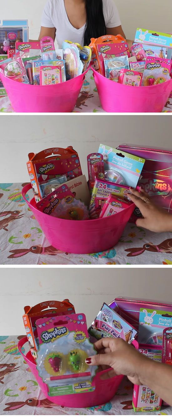 Basket Gifts Shopkins Themed Easy Diy Easter Basket