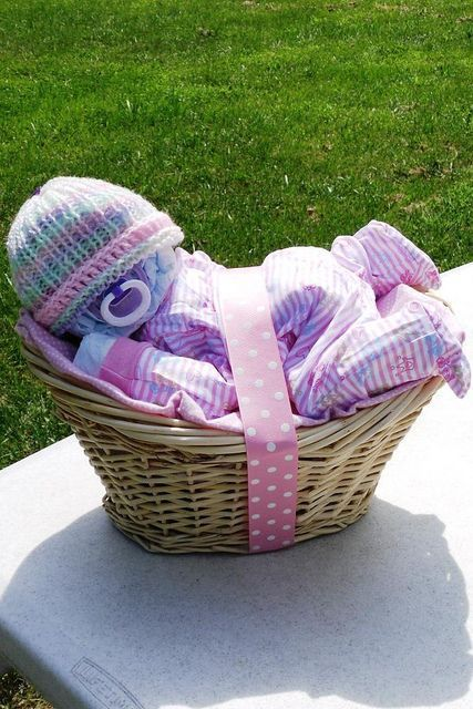 Sleeping Diaper Baby Gift Basket