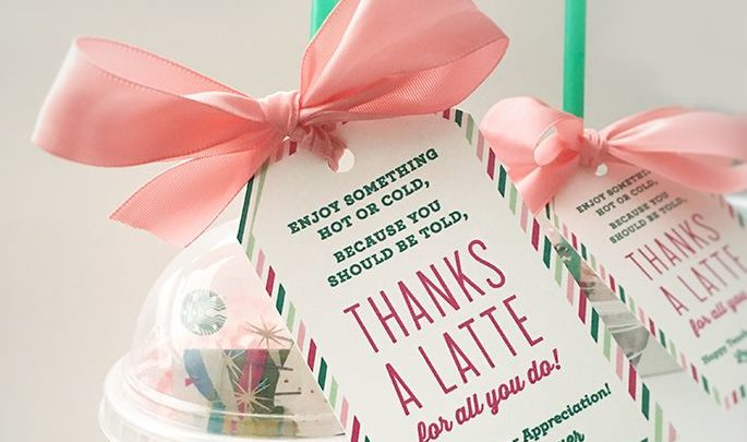 graphic regarding Thanks a Latte Printable referred to as Basket Items : Due A Latte Trainer Appreciation Reward Principle