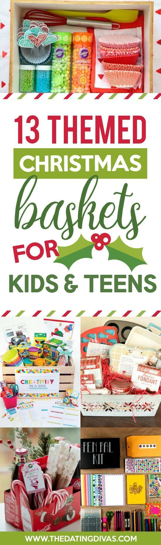 Christmas Gift Baskets For Kids.Basket Gifts Themed Christmas Gift Baskets For Kids And