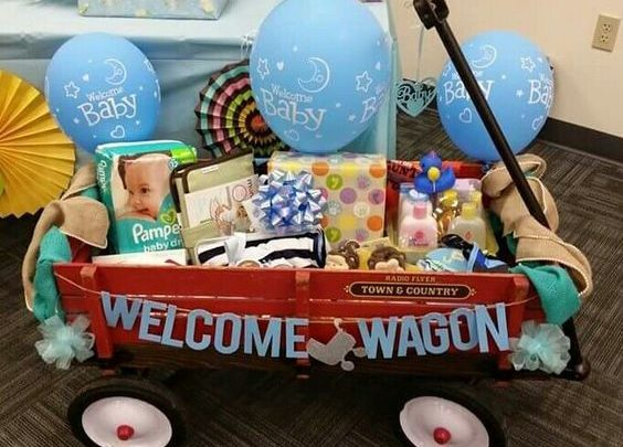Basket Gifts Welcome Wagon Diy Baby Shower Gift Ideas