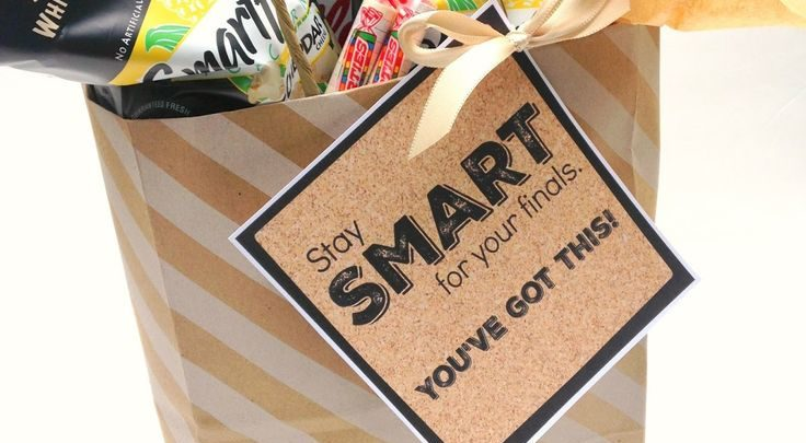 Basket Gifts : michelle paige: College Finals 'Smart' Gift Bag. Care package filled wi…