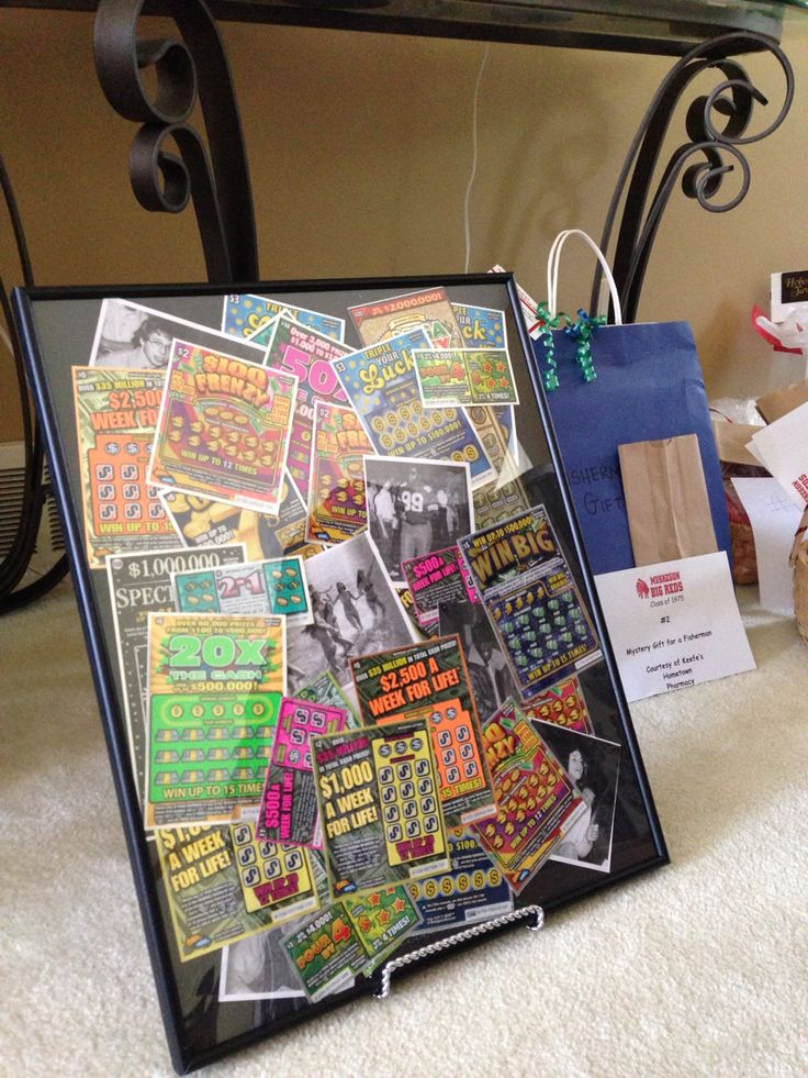 16x20 frame full off scratch off lottery tickets for class reunion raffle prize....