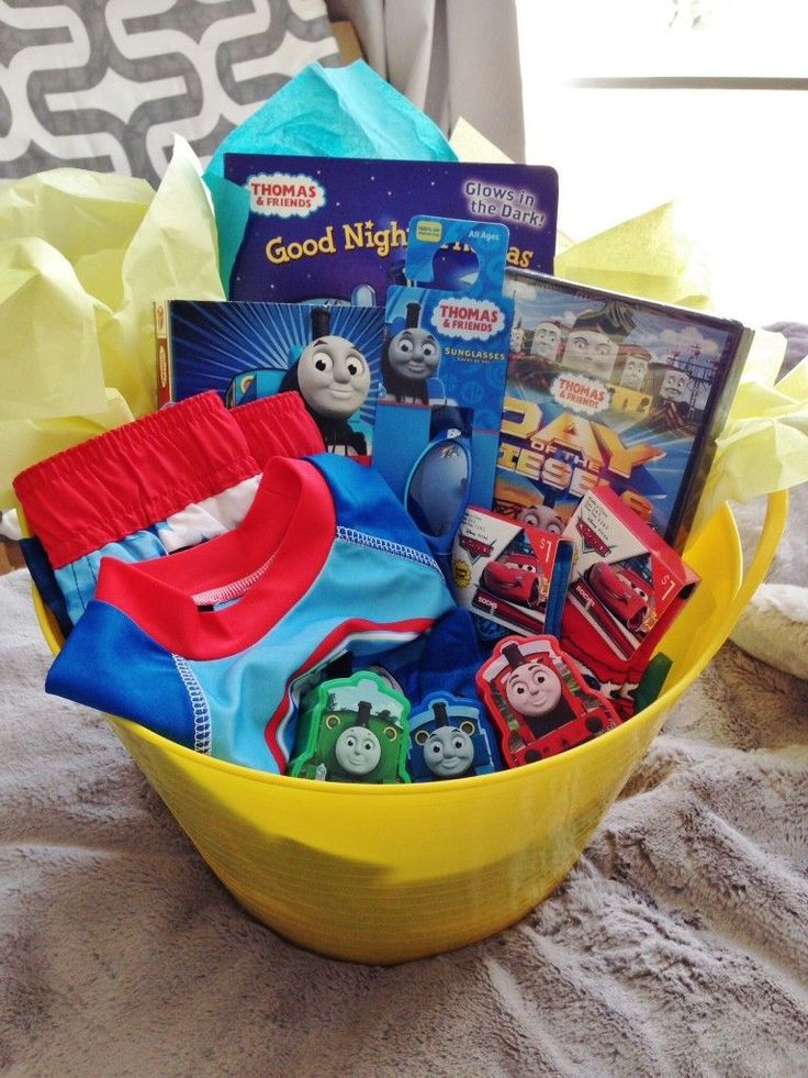 Candy Free Easter Basket - Thomas the Train