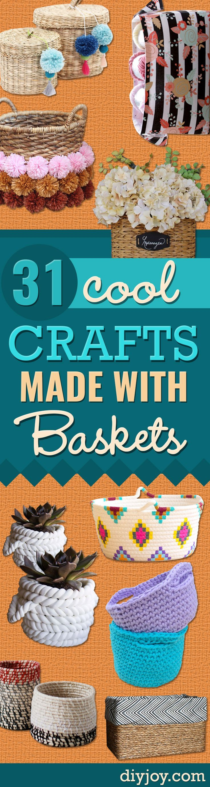 Creative Crafts Made With Baskets - DIY Storage and Organizing Ideas, Gift Baske...