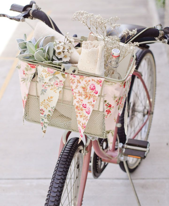 Give your bike basket a summertime makeover with this article by Christen Hammon...
