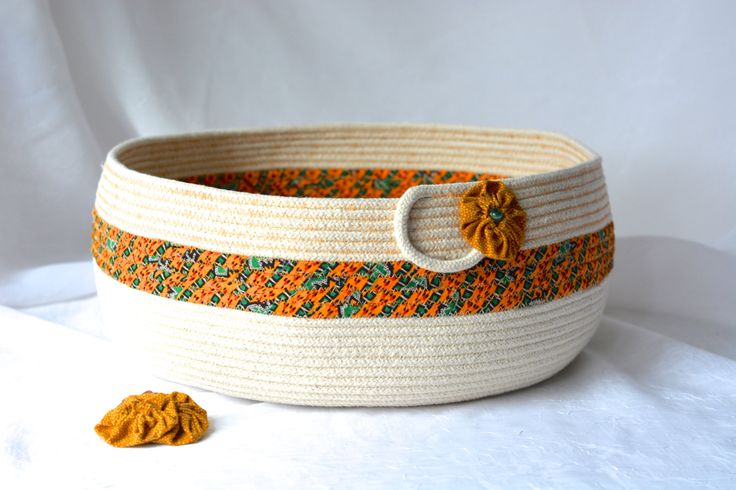 Lovely Abstract Rope Basket, I Handmade this pretty Fiber Basket, so many uses.....