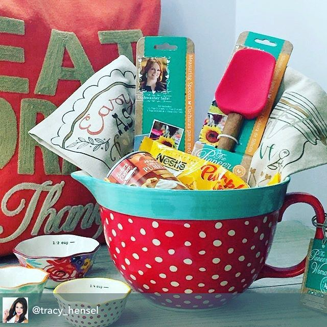 Such a cute idea for a gift. The batter bowl makes a cute