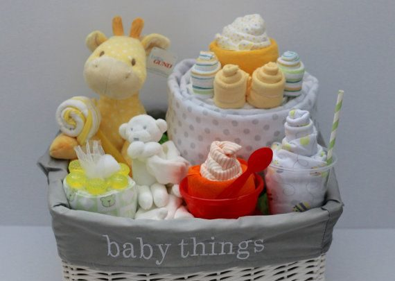 Basket Gifts This Listing Is For An Amazing Gender Neutral Baby Gift Basket It Is Filled Wit Giftsmaps Com Leading Gifts Ideas Unique Gifts Inspiration Magazine