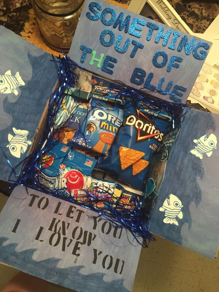 cute idea for a care package for your child in college or family member overseas...