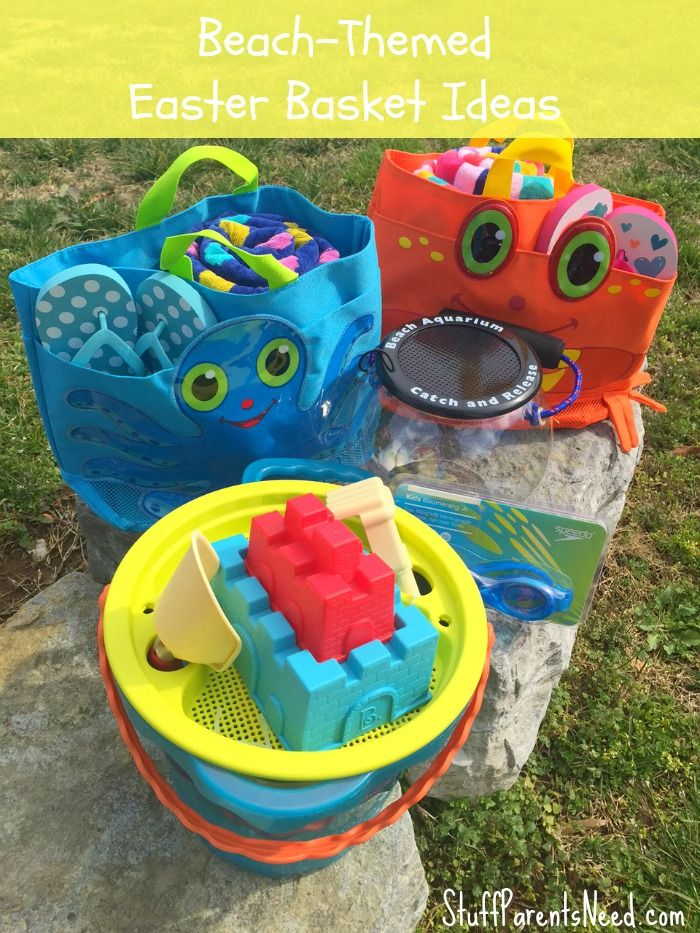 A beach Easter basket can be a really practical way to prepare for summer vacati...
