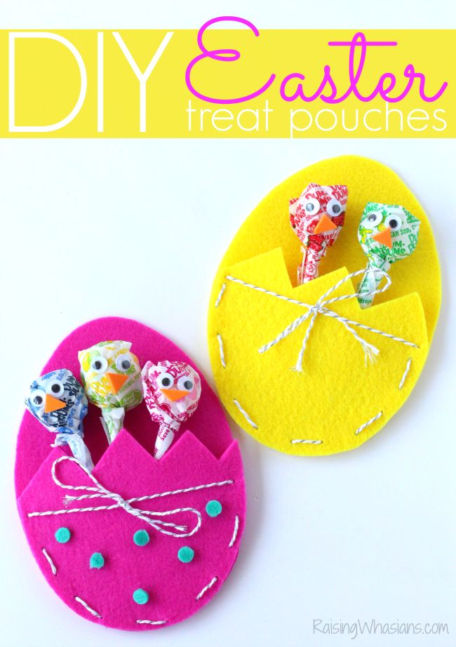 ADORABLE DIY Easter Treat Bags Craft for Kids @dum_dums #ad raisingwhasians.c......