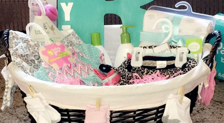 Basket Gifts Baby Shower Gift For Baby Girl Simple Fairly