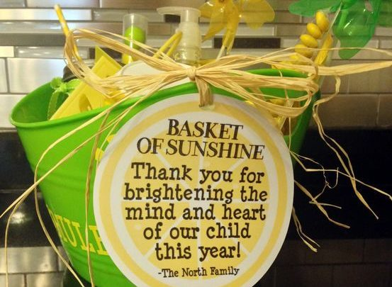 graphic regarding Basket of Sunshine Printable titled Basket Items : Basket of sun - Finish of the yr trainer