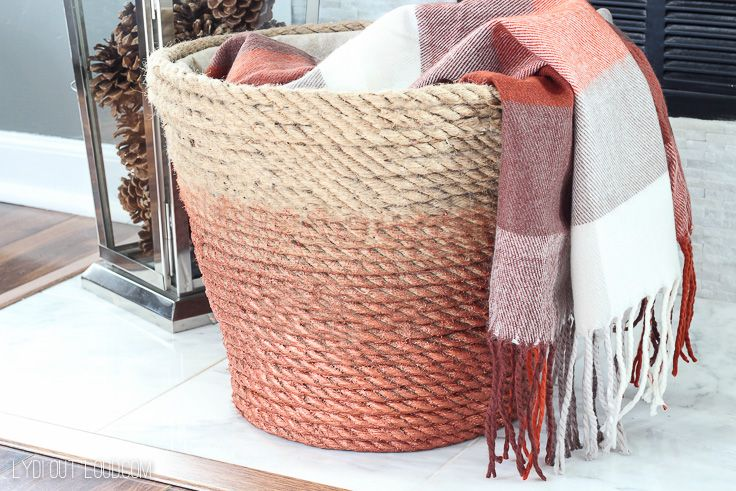 Can you believe this Metallic Rope Throw Basket used to be a cheap dollar store ...