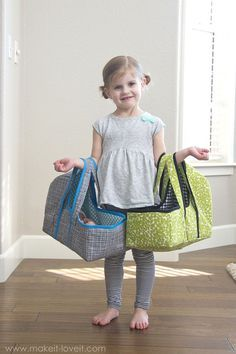 DIY Baby Doll Basket Carrier...a PDF sewing pattern, 3 sizes, plenty of pictures...