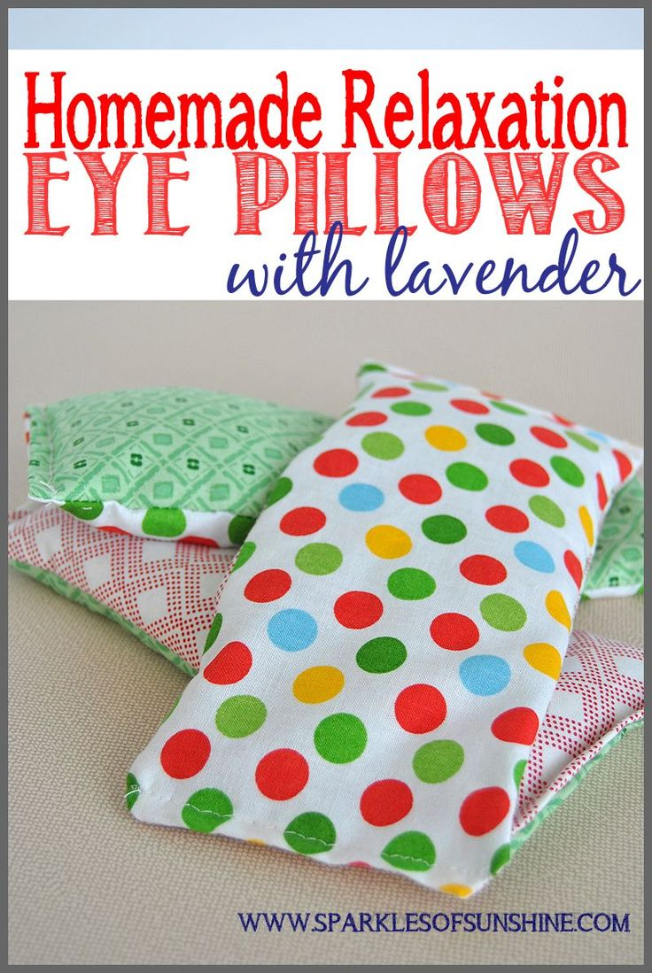 Easy Homemade Relaxation Eye Pillows With Lavender. Find out how to make one for...