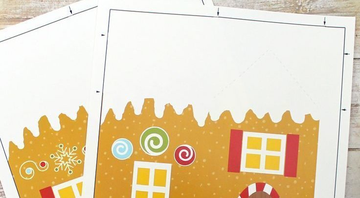 image about House From Up Printable referred to as Basket Items : Free of charge printable gingerbread Place address box
