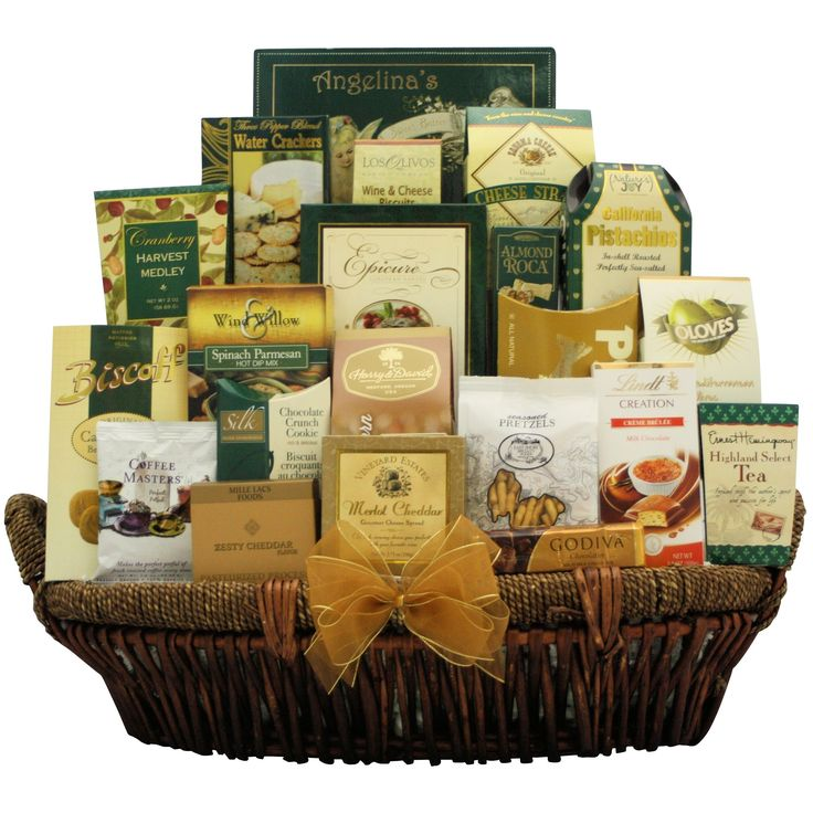 Gallant Affair Gourmet Gift Basket, Brown