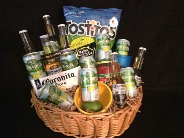Gift basket  fun & salsa. Cute for summer parties!