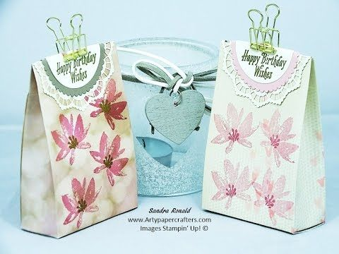 Handmade Gift Bag with Lacy Detail using Stampin' Up! products