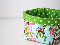DIY tutorial: Sew a Fabric Basket via DaWanda.com
