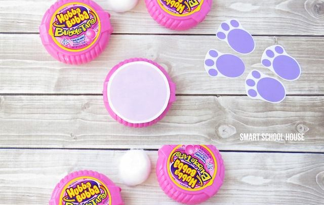 Basket Gifts How To Make Bunny Bubble Gum Using