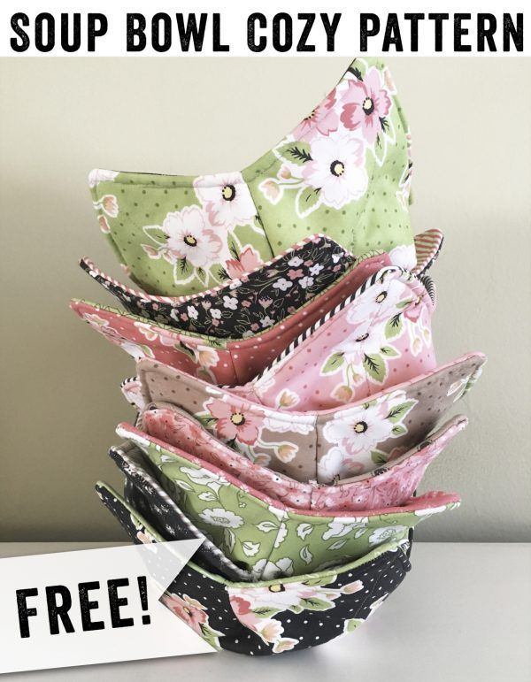 Learn How to Sew a Microwave Bowl Cozy -  A Free Sewing Project from Lindsay May...