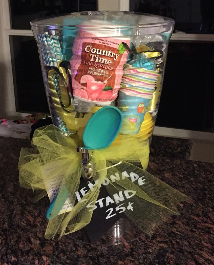 Theme Gift Basket: instant lemonade stand