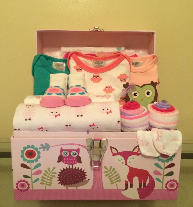This is a gift basket fit for lovers of woodland animals!!!! Includes: 25 (size 1) Huggies Diapers in base of tote chest, 6 baby washcloths, little woodland animals outfit (long sleeve shirt and pants                                                                                                                                                                                 More