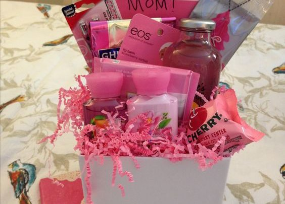 Basket Gifts Tickled Pink Diy Mothers Day Gift Basket