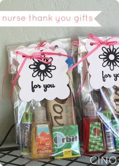 very cute idea for thank you gifts if you need to make several (co-workers)