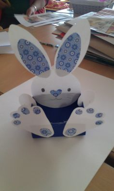 Easter Bunny.  This is a great gift for children, in his basket can give some Ea...