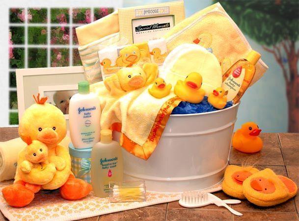 Bath Time Baby New Baby Gift Basket-Yellow