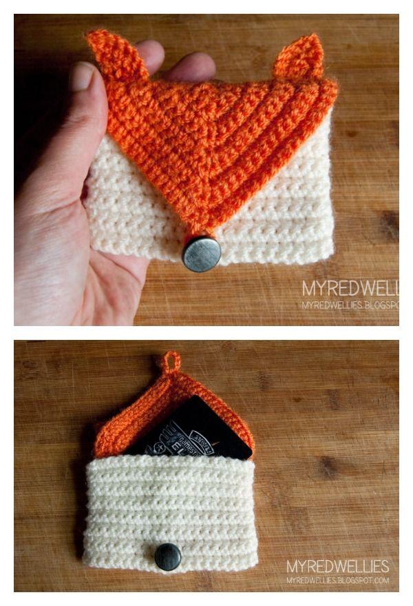 Crochet Fox Gift Card Purse Free Pattern