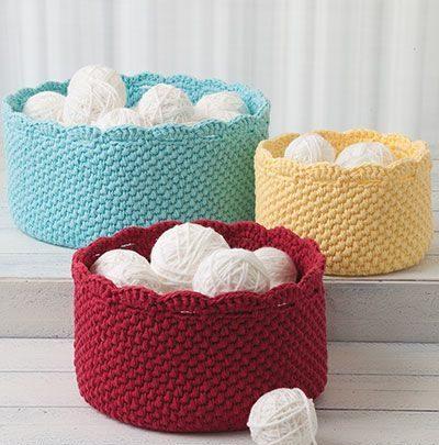 Basket Gifts Crochet Basket Patterns For Yarn Storage Craft