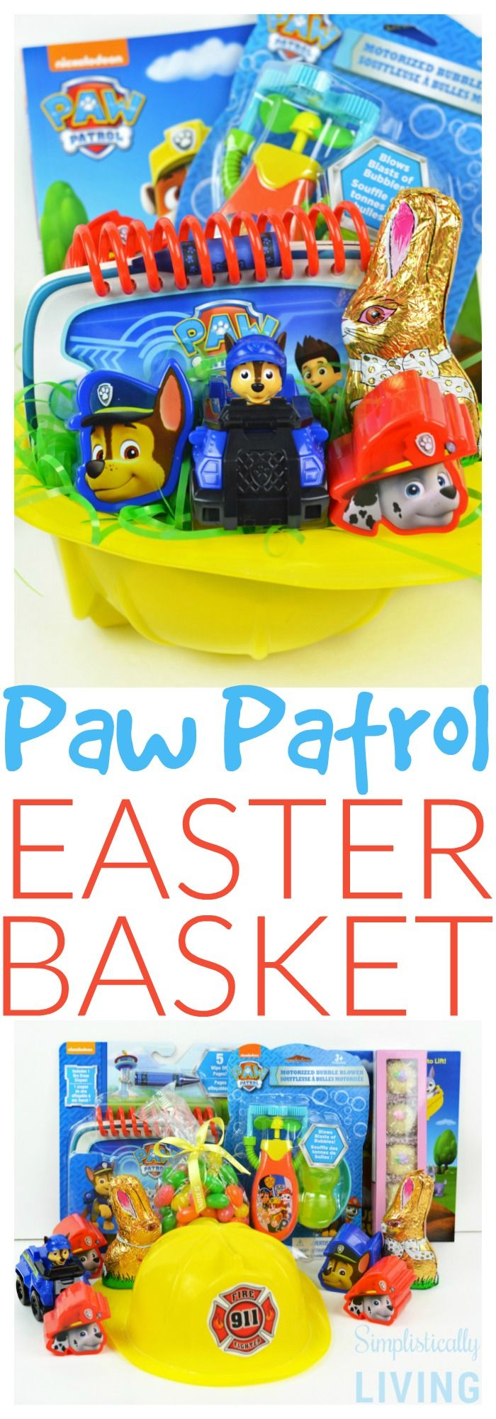 DIY Paw Patrol Easter Basket (For a Toddler) Simplistically Living #SeesCandies ...