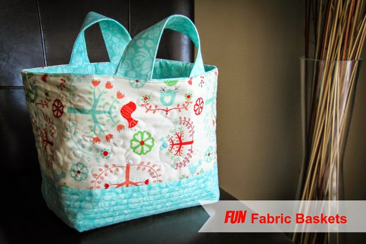 Fabric Basket Tutorial (The finished size is, 6 1/5