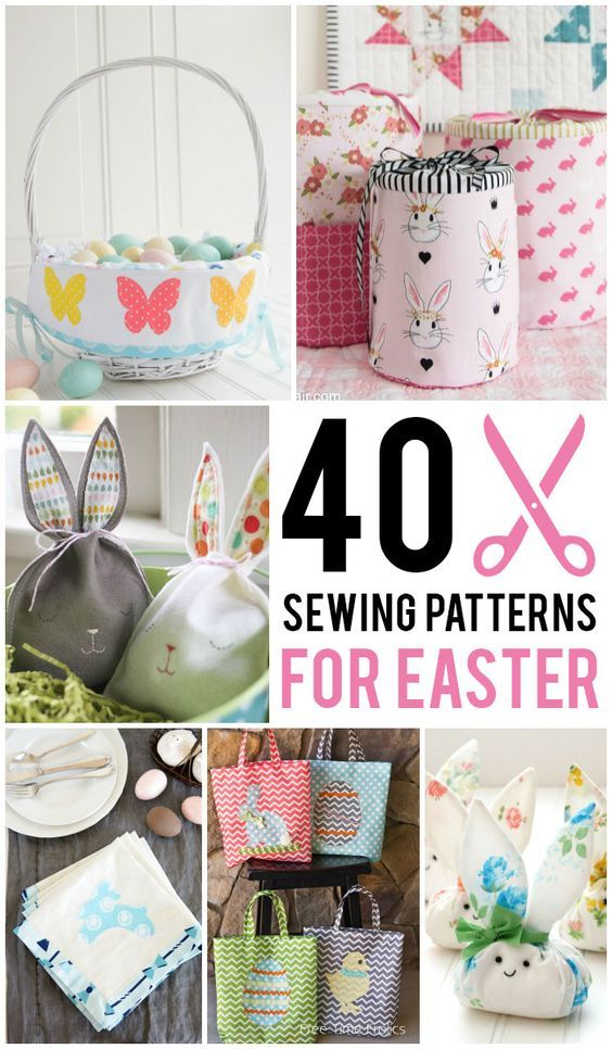 Over 40 Sewing Patterns and Tutorials perfect for Easter. Everything from Easter...