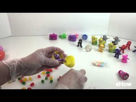 Step by step instructions to make chocolate surprise eggs with candy melts and p...