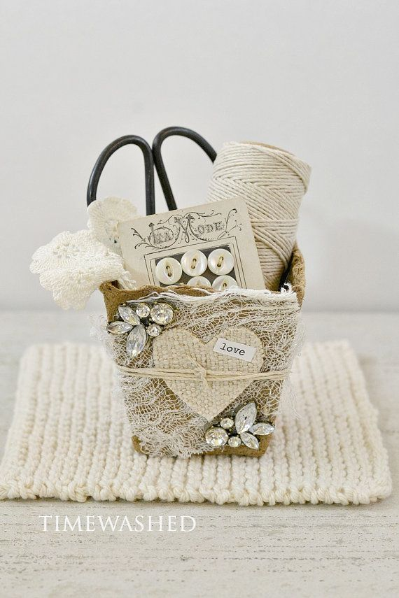 Vintage Inspired Heart Basket