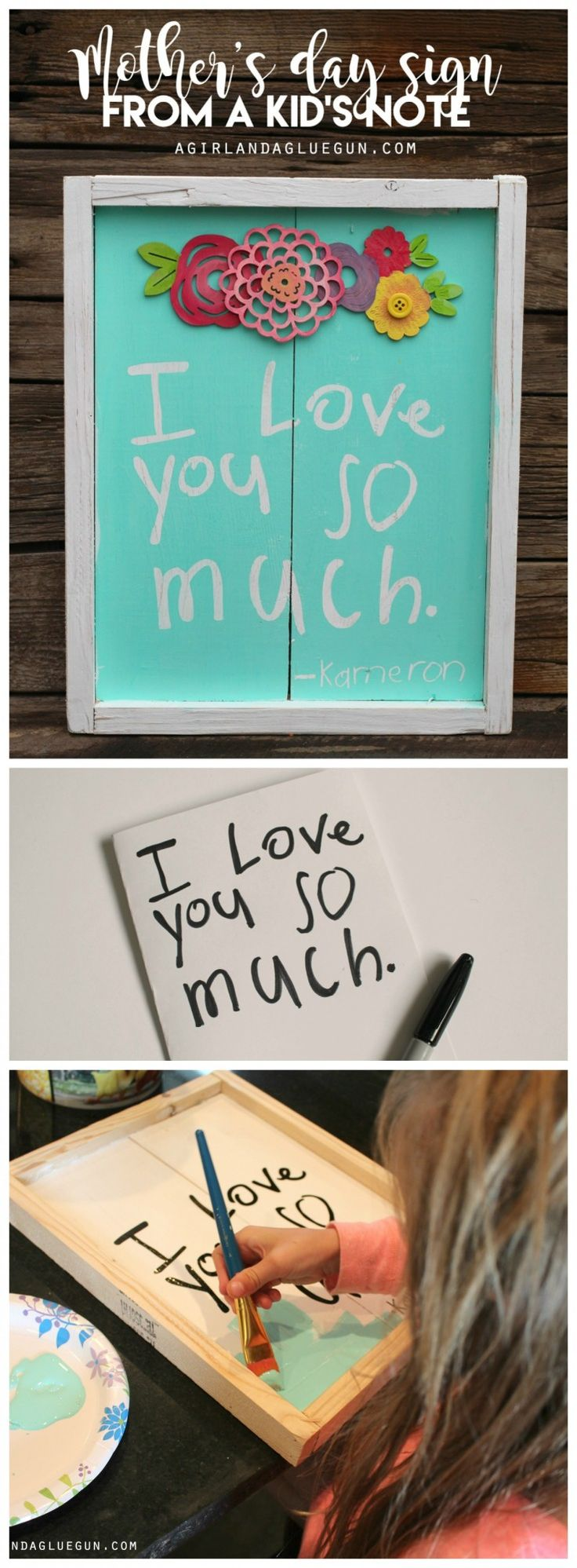 the best mother's day present idea--turn your child's note into a sweet ...