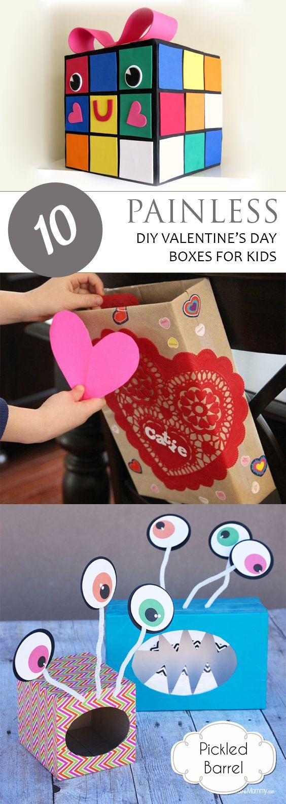 10 Painless DIY Valentines Day Boxes for Kids
