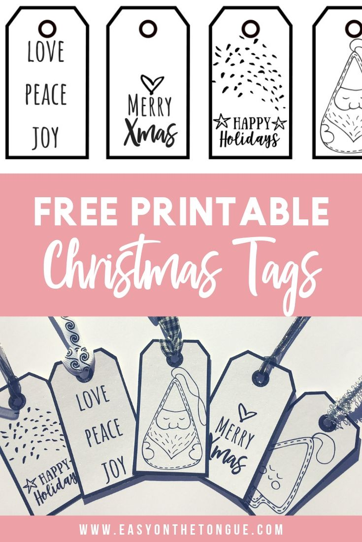 Christmas Printable Tags designed for you - free to download. #christmastags #xm...