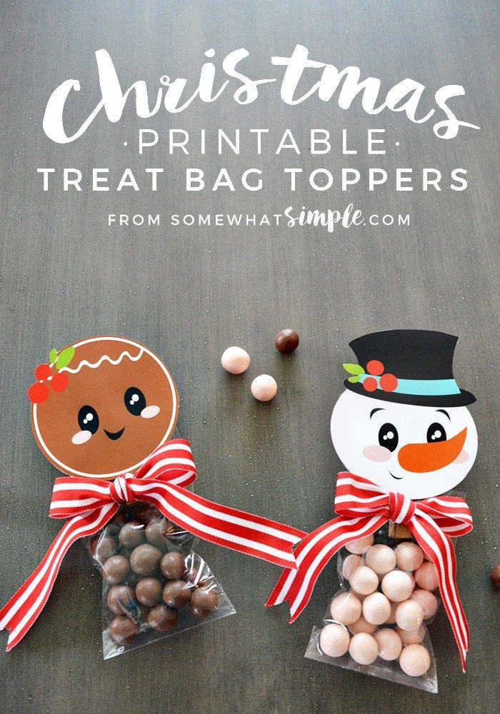 Christmas treat topper printables