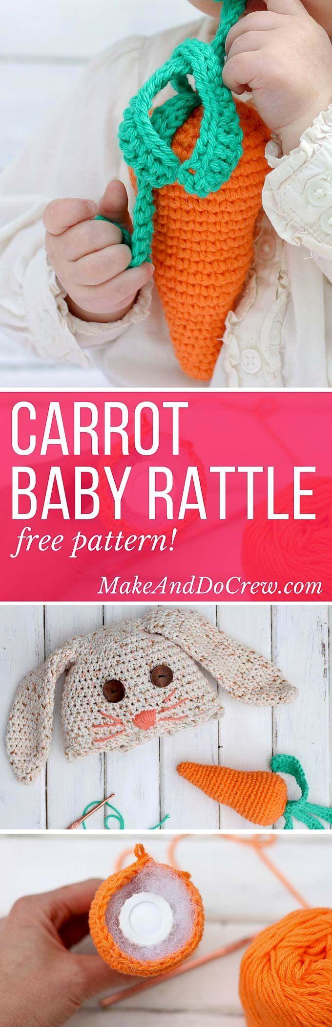 Free Crochet Baby Toy Pattern - an Amigurumi Carrot Rattle!